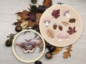 DMC Embroidery Craft Box Kit Woodland DIY Home Decor