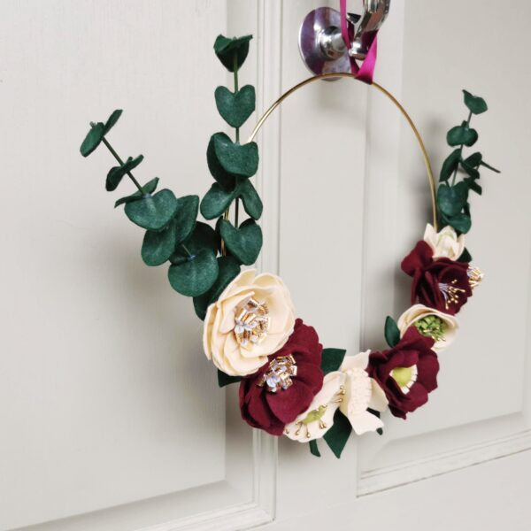 Christmas Home Decor Wreath Felt DIY craft Kit