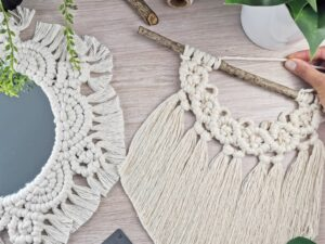 Macrame Cotton Cord Knot Fibre Art Craft Box