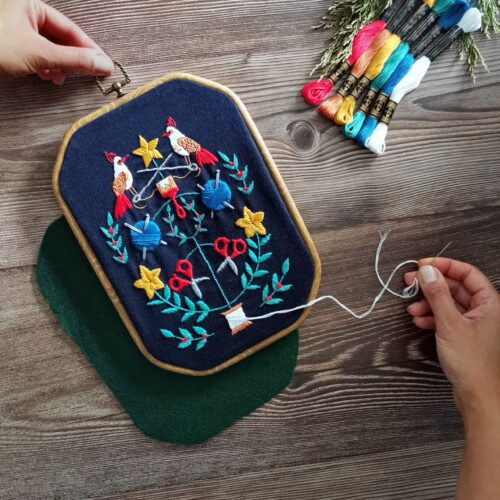 Folk Hygge Nordic Embroidery Kit for Adults Christmas Craft